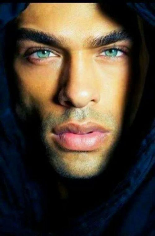 Man Striking Eyes | beautiful green eyes