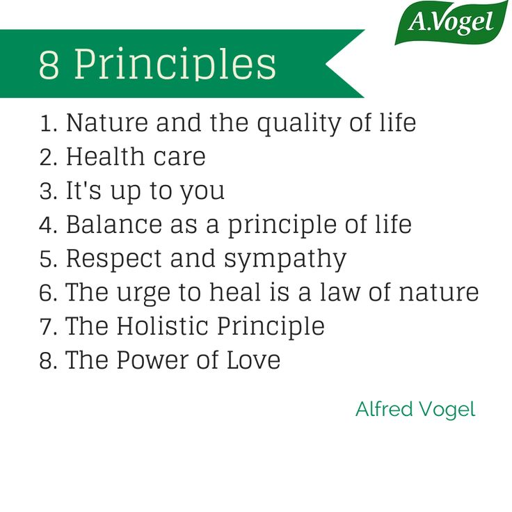 8 Principles of Alfred Vogel