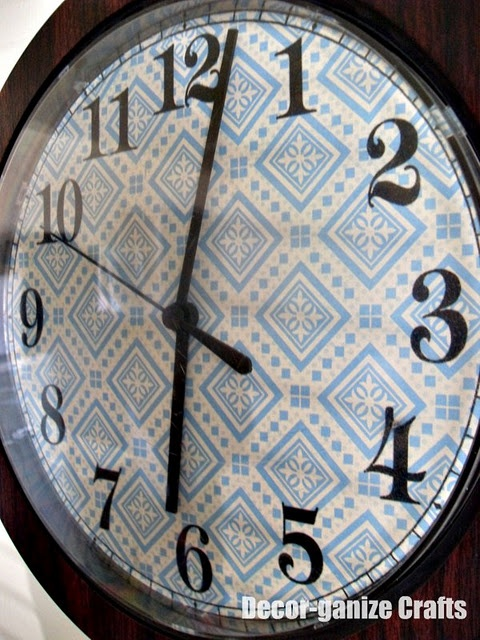 Redo a clock face | DIY-For the Home | Pinterest