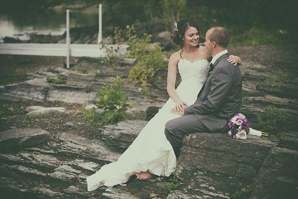 Lovely photo of T & J at Pinhey's Point in Ottawa #OttawaWedding #PinheysPoint