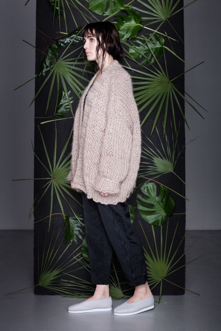 Anna Dudzińska, CONCRETE GREEN, aw2015, sweater HILO, trousers DIOME. To download high or low resolution product images view Mondrianista.com (editorial use only).