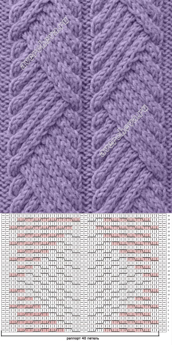 A pretty, but simple-to-create traveling diagonal cable pattern