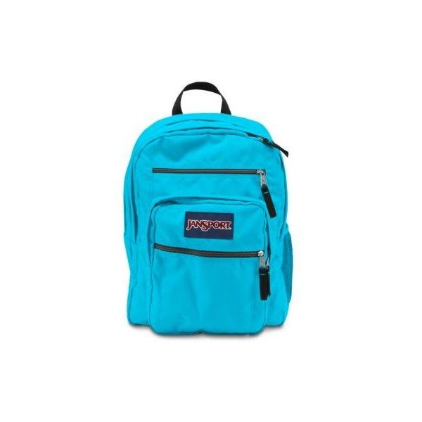 JanSport Big Student Mammoth Blue ($46) ❤ liked on Polyvore featuring bags, backpacks, mammoth blue, jansport backpack, backpacks bags, jansport, blue backpack and pocket backpack