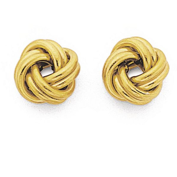 9ct Gold Double Knot Stud Earrings