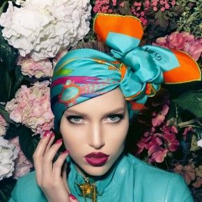 Amazing colors...and loving the head wrap/turban