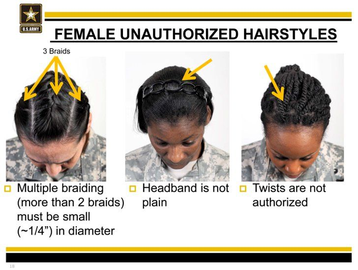 Army regulations on pinterest army hair regulations rotc army pin for later update pentagon reviewing new army regulations for hair discrimination source toneelgroepblik Images