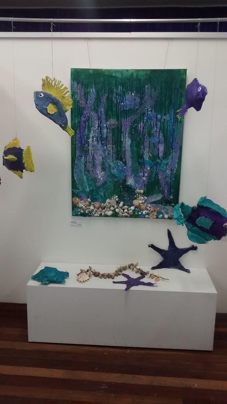 Fish tank installation By Deb Chilton