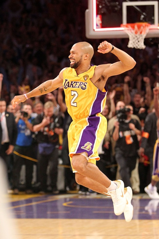 March 15, 2012. See ya later, D-Fish. Thought you were going to retire wearing purple and gold. Thumbs down.