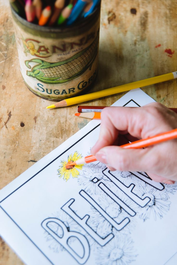 Five free projects for you to set your daily intentions in a fun, creative way. These projects range from creating a sign for your home to coloring sheets.