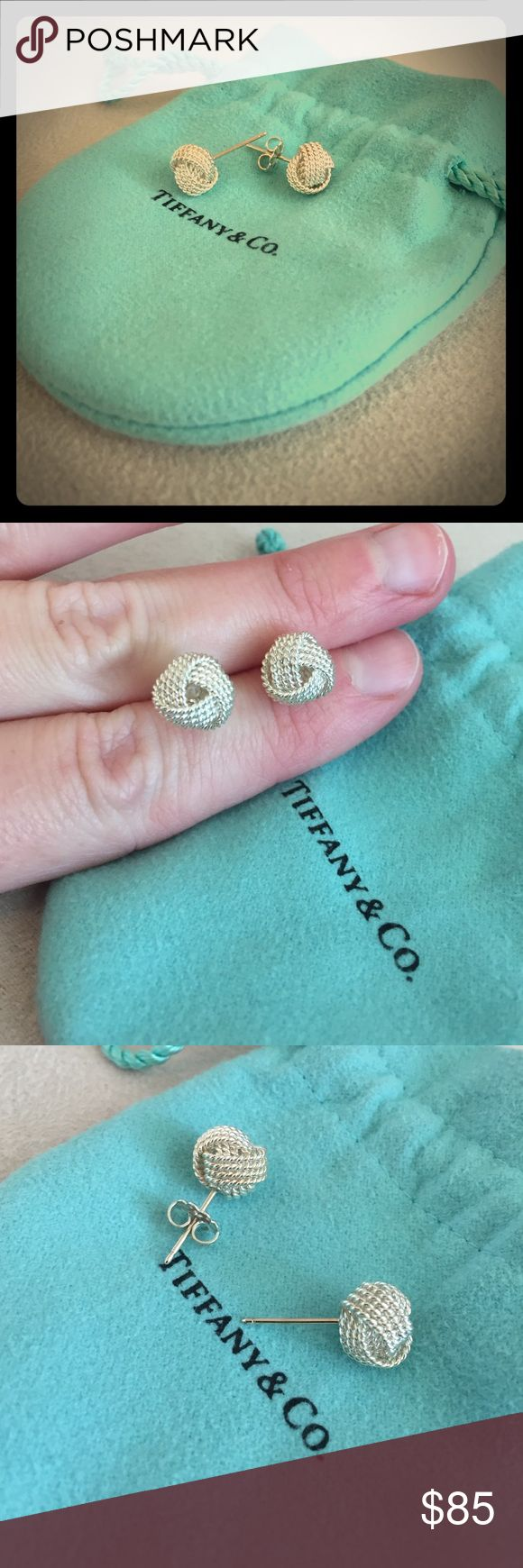 Tiffany Twist Knot Earrings in Sterling Silver Authentic Tiffany twist knot earrings in sterling silver. For pierced ears. Comes with dust bag. Missing one earring back. Otherwise, great condition. Hardly worn. Tiffany & Co. Jewelry Earrings