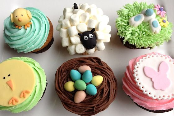 Easter on the Farm decoration ideas for cupcakes