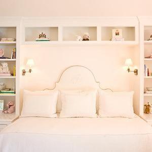 Shelves over Bed - Contemporary - den/library/office - Marie Burgos Design