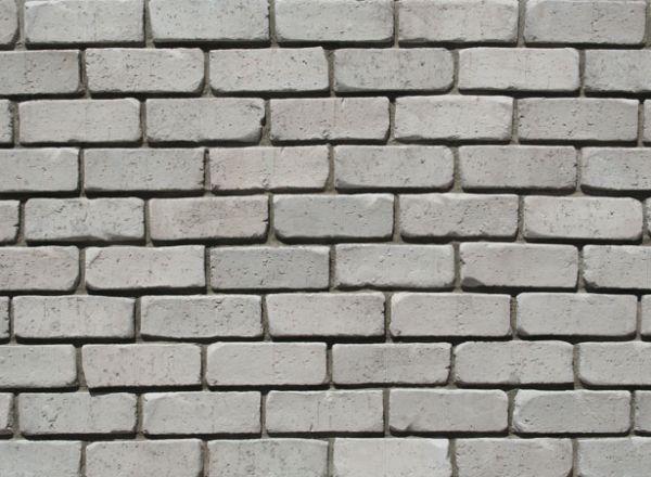 Tumbled Thin Brick Veneer (Color: Light Grey)