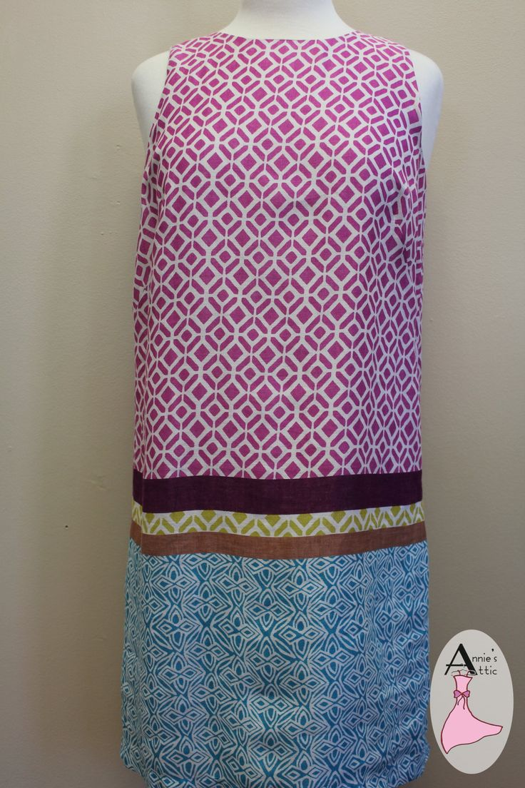 Ann Taylor LOFT dress, size 8 Multi-color and pattern - colors include pink, purple, green, brown and turquoise 100% linen Fully lined $41.00