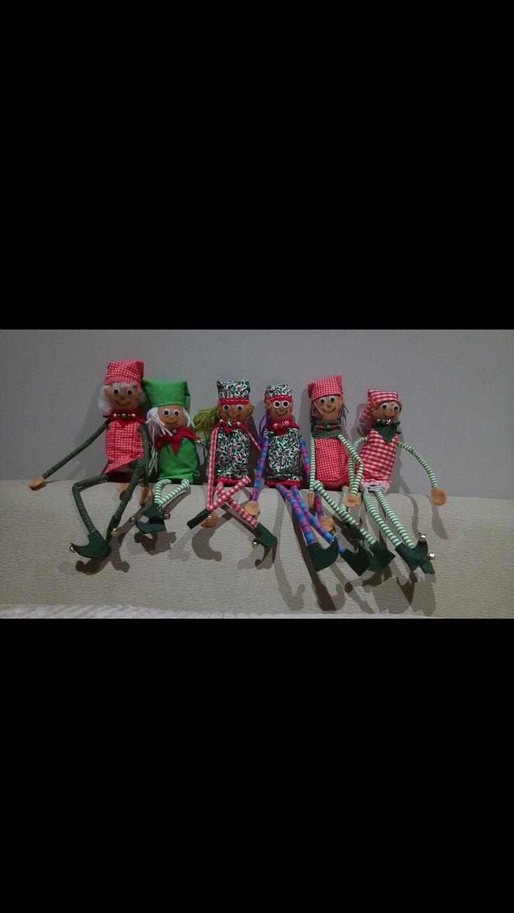 Hand sewn diy elves