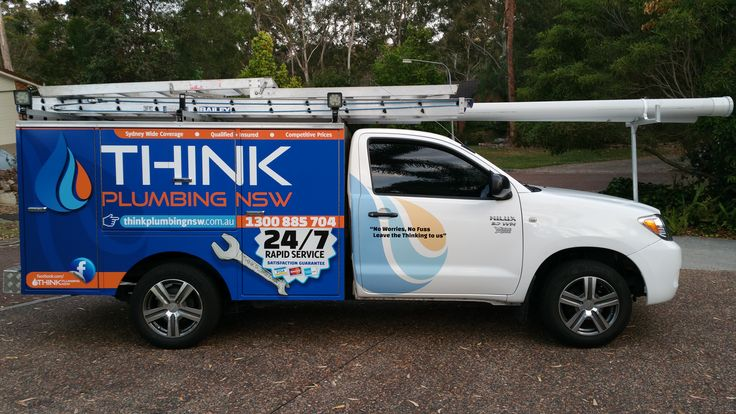 Cunneen Signs -Think Plumbing Full ute wrap