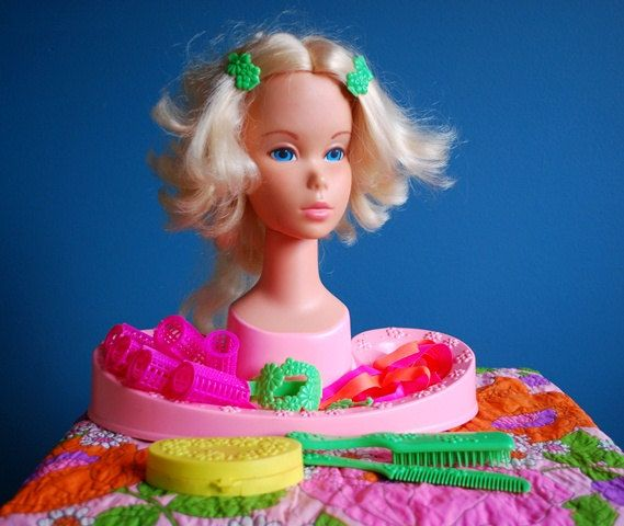 Vintage Toys 1970S | This vintage Barbie Beauty Center is such a fun toy for a little (or ...