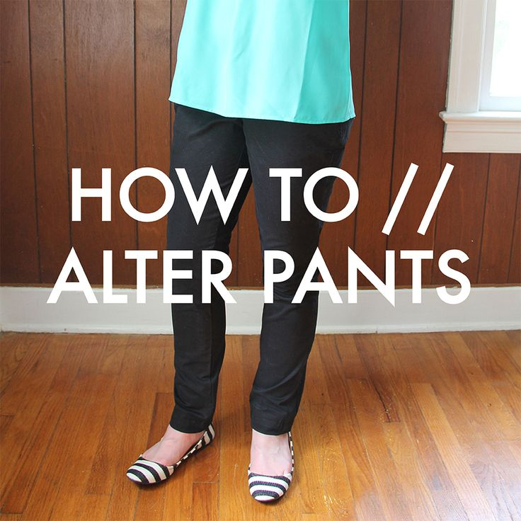We Can Make Anything: how-to // alter pants (straight leg edition)
