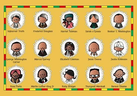 Black History Month Preschool Printable