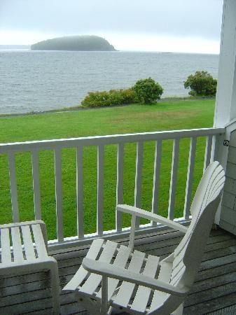 Bar Harbor, Maine from a Bar Harbor Inn balcony