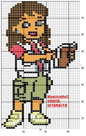 Dora perler beads pattern by Mauricette
