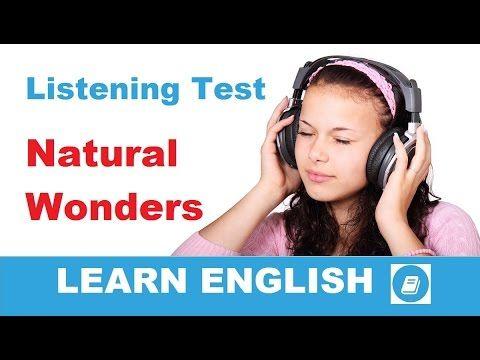 Learn English - Elementary Listening Test: Natural Wonders - E-ANGOL
