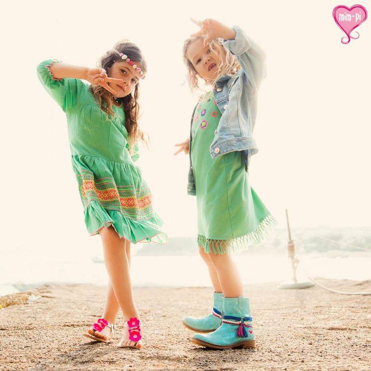 Kinderstijl Mim-Pi Meisjes Jurkjes Groen | Cute en Hip | www.kienk.nl