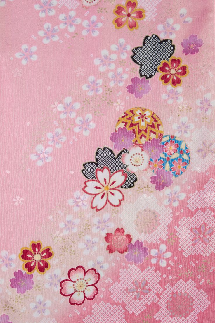 着物 No:777 商品名:ピンク 絞り桜 | 卒業衣装&袴 Hakama | Japanese textiles ...