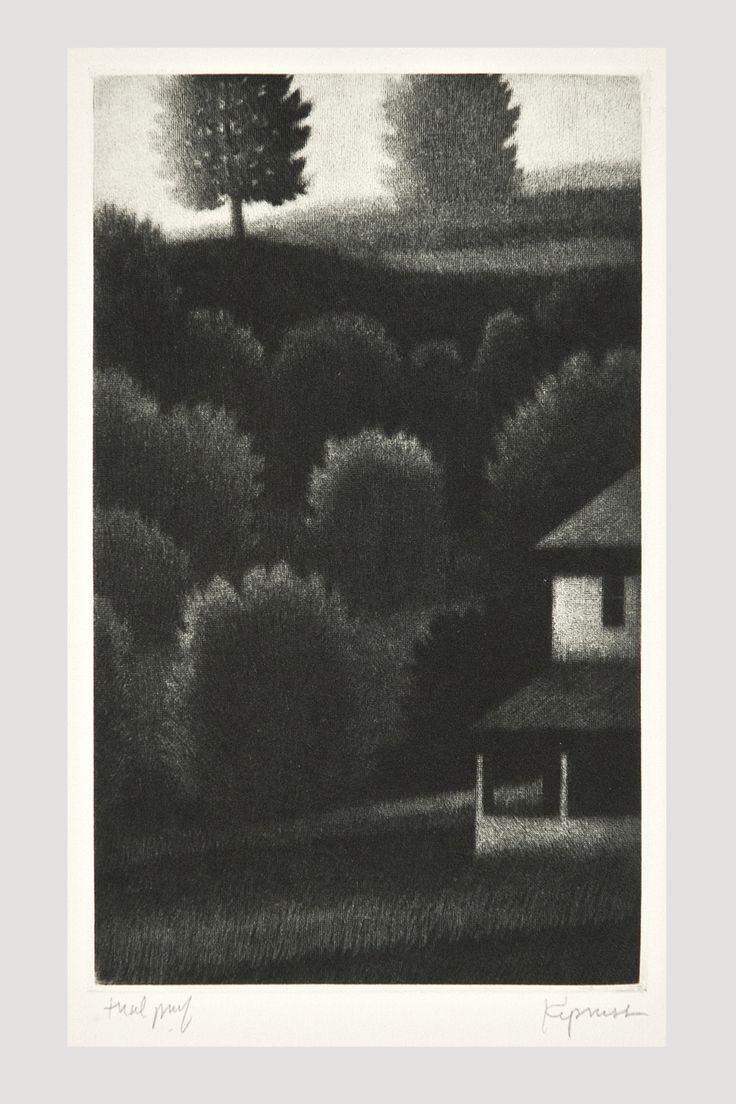 Porch and Hillside Mezzotint by Robert Kipniss