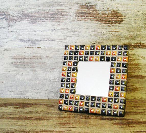 Mosaic Mirror 20x20 Pearl Mix Colours Wedding by SoniaHomeFashion