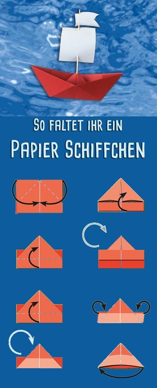 Schiff zusammenklappen: Anleitung zum Basteln in 2020 ...