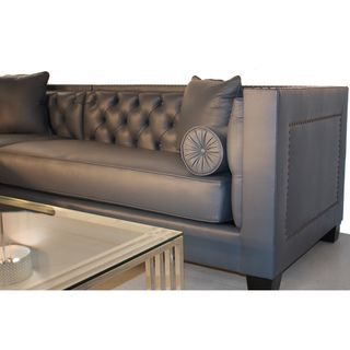 Decenni Custom Furniture 39 Tobias 39 Monte Carlo Slate Leather Sectional