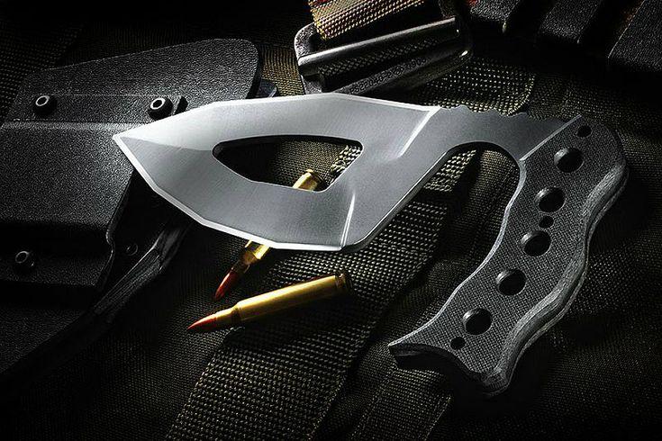 An ergonomic self defense knife.