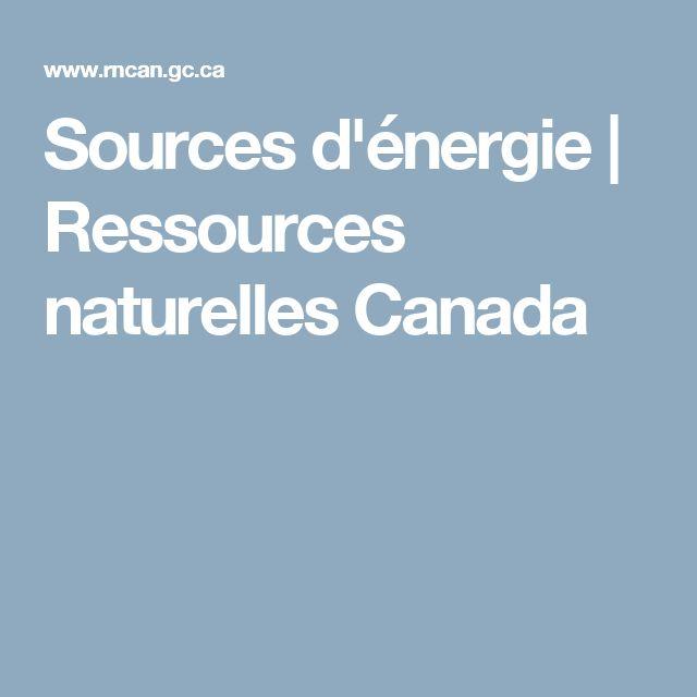 Sources d'énergie | Ressources naturelles Canada