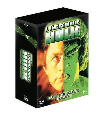 L'INCREDIBILE HULK SERIE TV COMPLETA COFANETTO COLLEZIONE FILM DVD