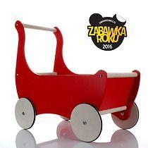 Drewniany wózek dla lalek /pchacz , zabawki - klocki i zabawki drewniane