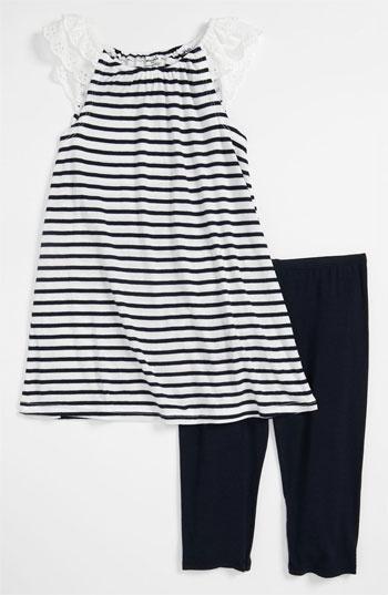 Splendid 'Florence' Stripe Tunic & Leggings (Little Girls)   Nordstrom ...