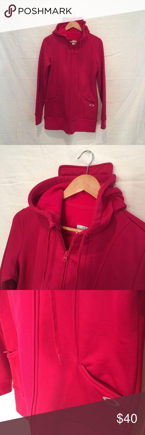 NWOT Oakley Zip Up Hoodie ✨ brand new - never worn! ✨ hot pink zip up hoodie from Oakley Oakley Tops Sweatshirts & Hoodies