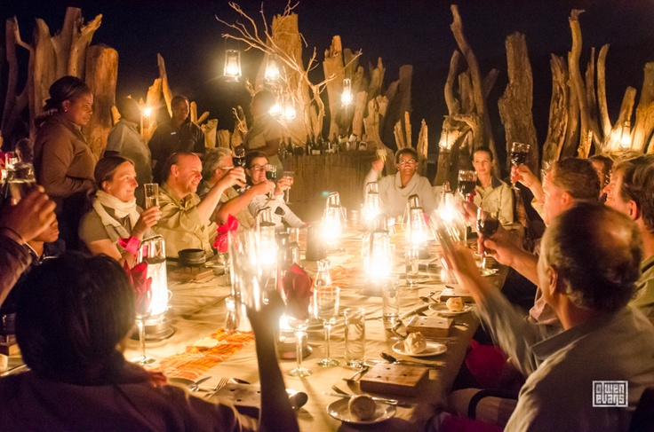 Don George, editor of National Geographic Traveler announces Damaraland Camp, Namibia has has been voted as one its Best Ecolodges in 2013. At Wilderness Safaris' Damaraland Camp boma.