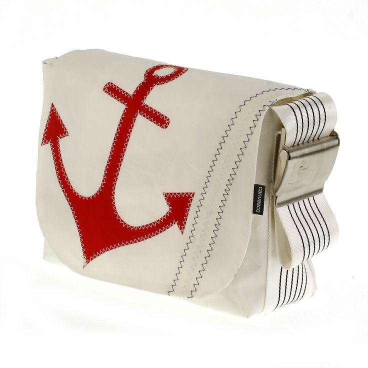 sailing bag green fashion messengerbag sailing ocean urban fashion recycelt sailcloth