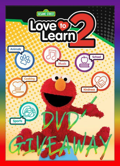 (ends 4/4) Sesame Street Love To Learn 2 #Elmo DVD #Giveaway Ends April 4th #sesamestreet #education #cartoon #animation