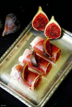 Higos ibericos con queso roquefort. Más
