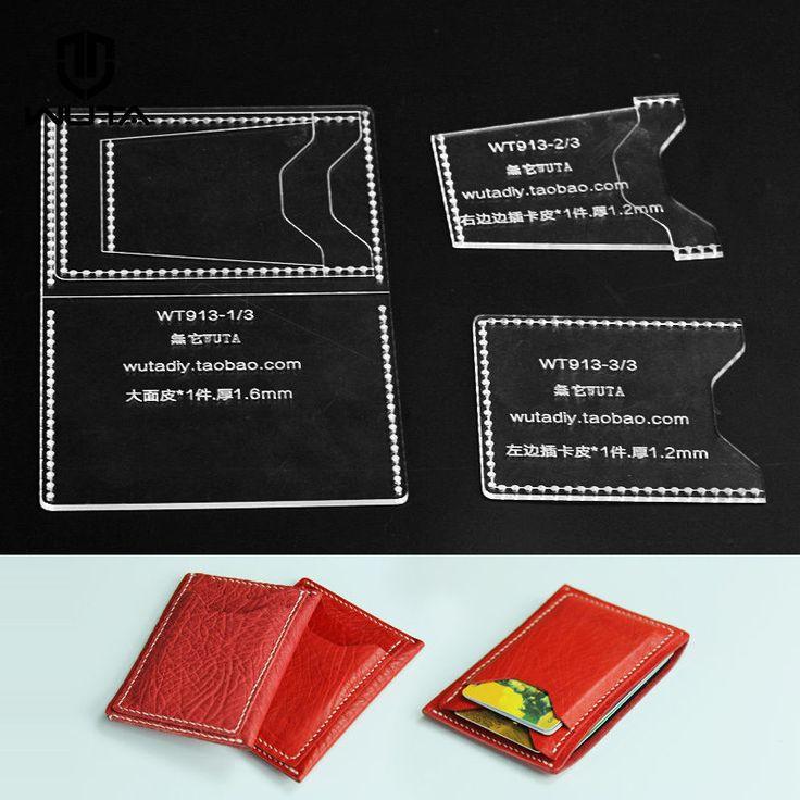 Очистить шаблон случай шаблон карточки бумажника Акриловая Leathercraft | eBay