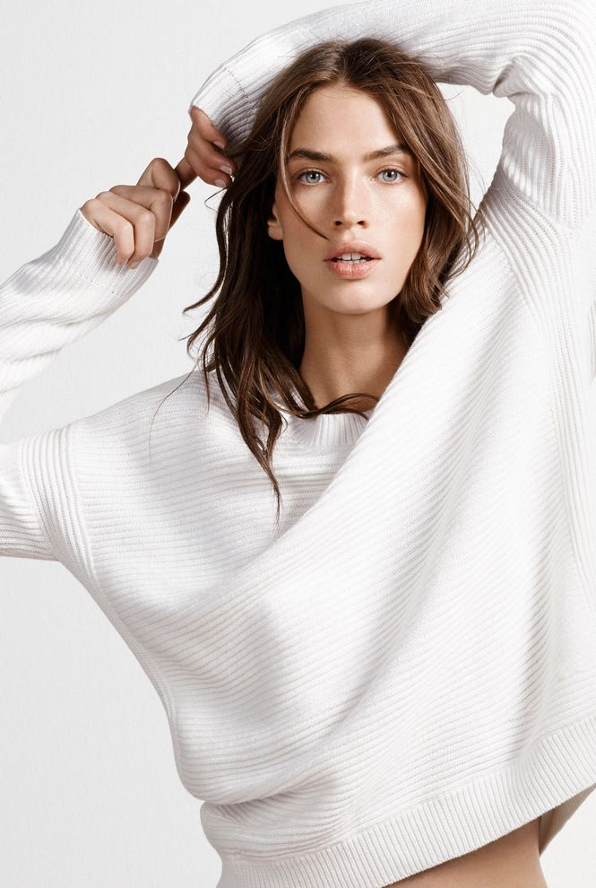 An essential spring knit to pair with midi skirts and jeans, in a soft cotton yarn with contrast ribbing | Country Road Woman, Spring 2014