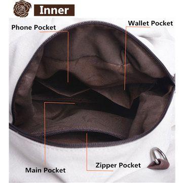 Women Canvas Portable Tote Handbags Casual Shoulder Bags Capacity Crossbody Bags - US$20.69