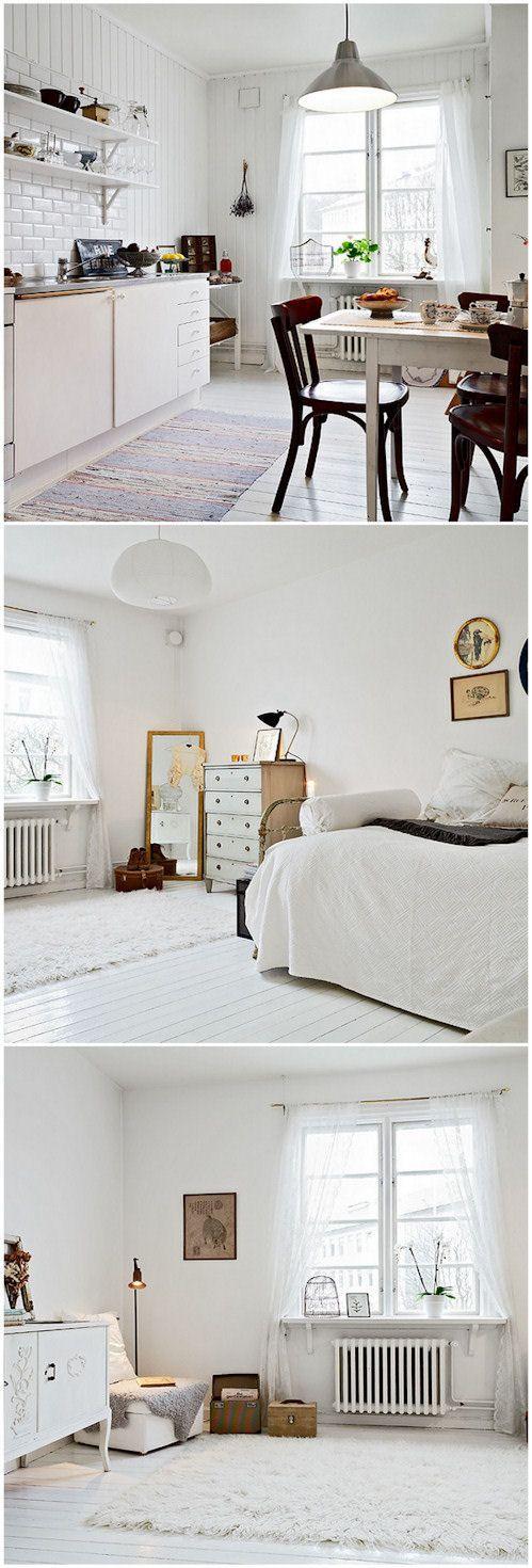 Lámpara que puede pintarse de blanco o negro.
