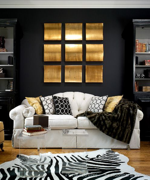 gold and black living room decorating ideas living room 4 photo by
