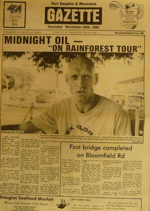 Media coverage featuring Peter Garrett.