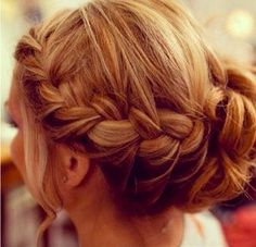 Lovely plaited hairstyle <3