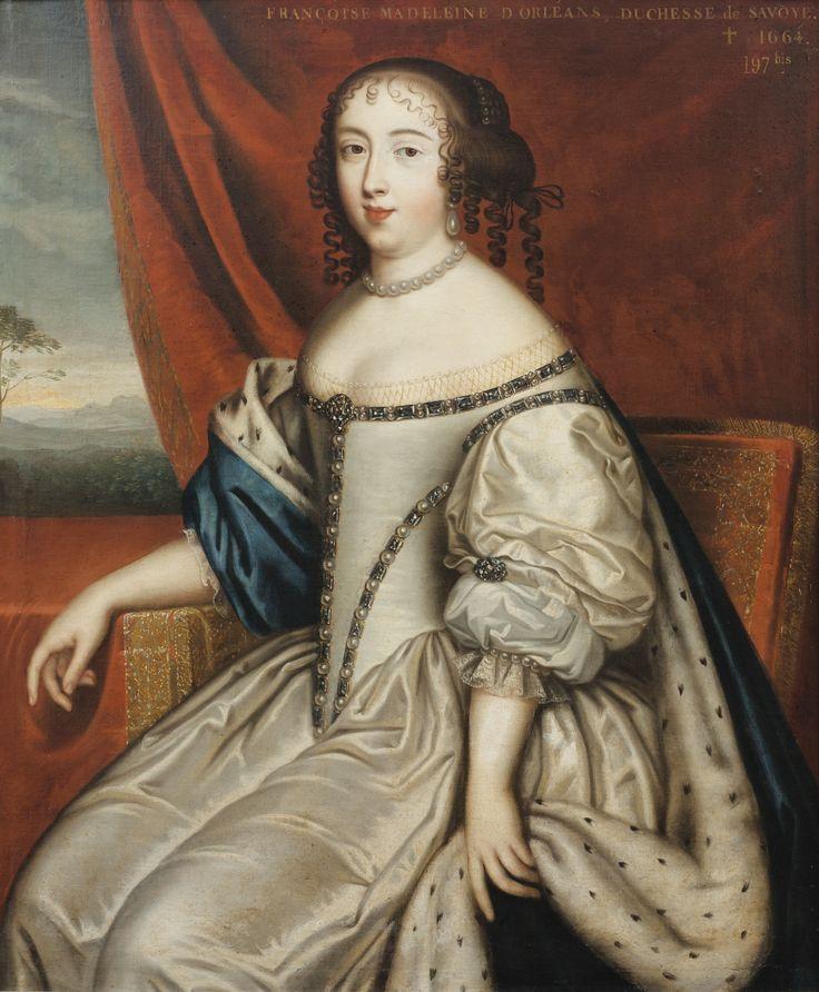 ecole française vers 1680   portrait de Mlle d'Orléans duchesse de Savoie -suiveur des Beaubrun  sotheby's pf1661lot8ym4men